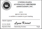 United States Australian Shepherd Association Member